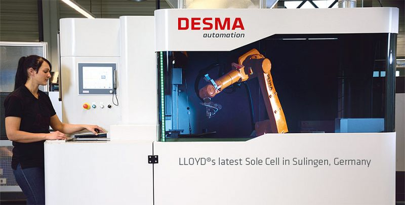 LLOYD SHOES AND DESMA TEAM UP IN AUTOMATION